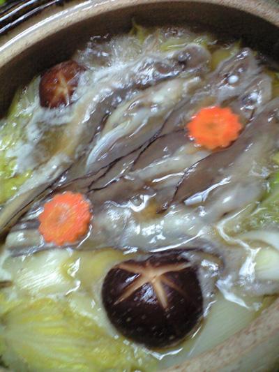 げんげの醤油鍋