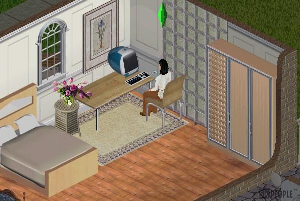 アイボリーの寝室