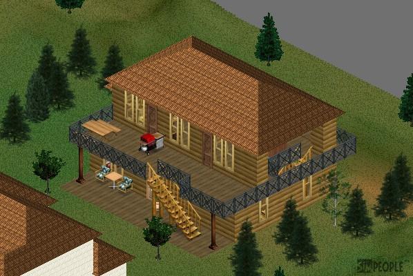 丸木小屋の別荘