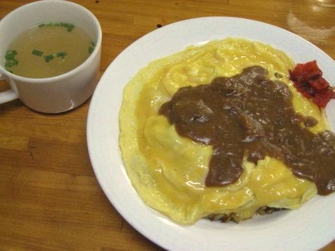 オムドライカレー(スープ付き)