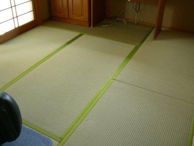 新しい畳は気持ちイイっす♪