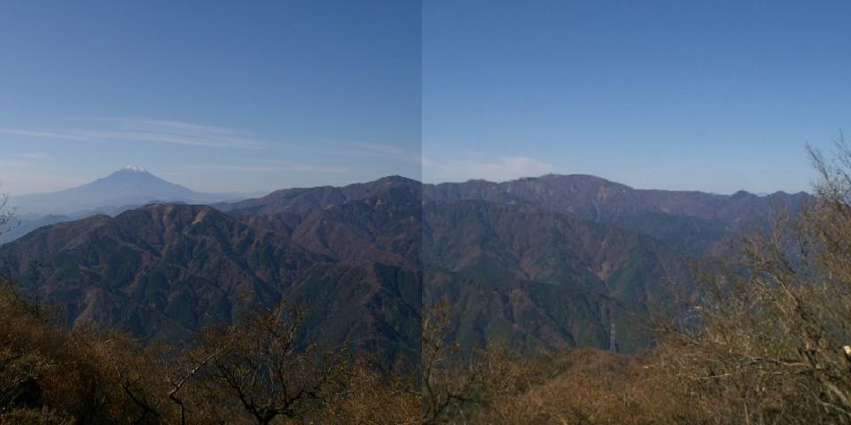 ⑧大山山頂から丹沢の山並み