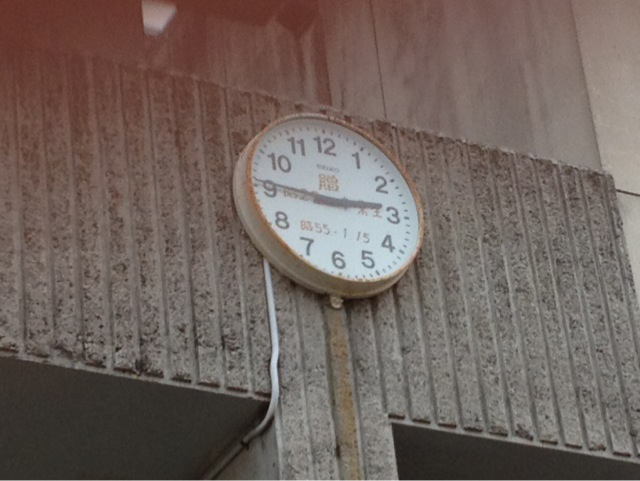 止まってしまった時計。