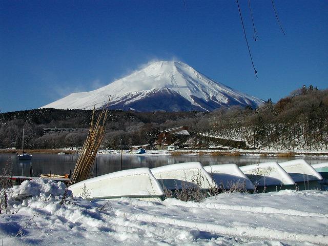 元日の山中湖