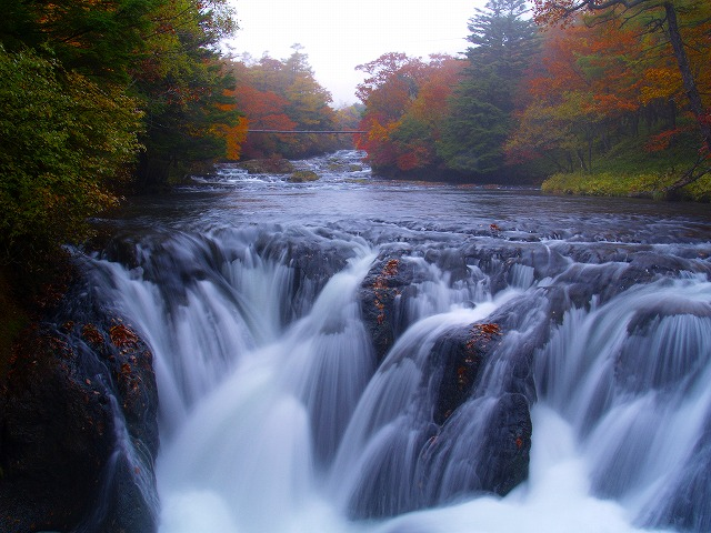 竜頭の滝の上の滝