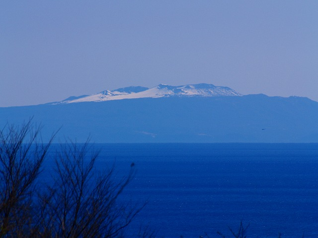 吾妻山からの大島