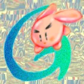 グーグルに飛び込む桃色うさぎ