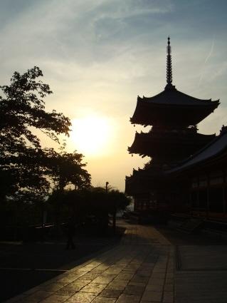 清水寺の夕