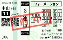 2009 12月5日 中山11R ステイヤーズS フォゲッタブル
