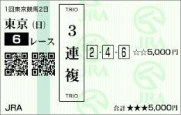 京都6R ハズレ馬券