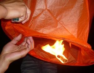 火をつける2