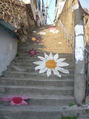 *可愛い階段なら上るのも楽しいね~*