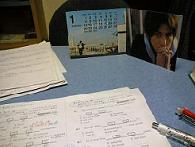 一月。机の上は・・・。