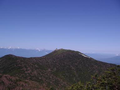 朝日岳より金峰山