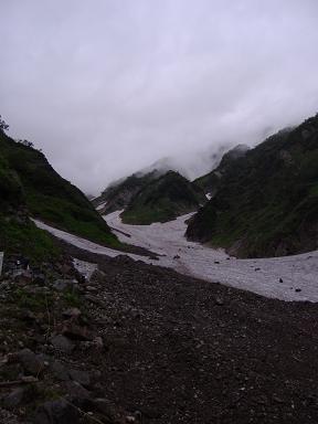 大雪渓入り口