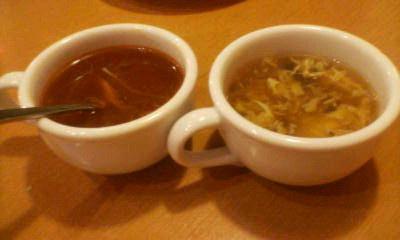 野菜スープ??&中華春雨スープ