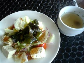 カフェマック⑤日替わりランチ 豆腐サラダ