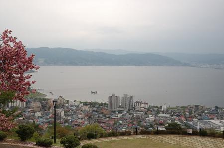 諏訪湖風景