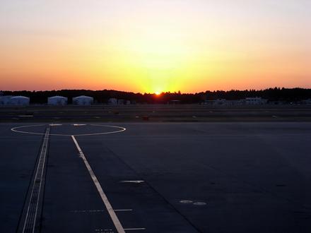 成田の夕陽
