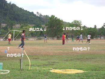 草サッカー