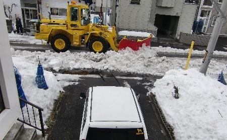 除雪ドーザ