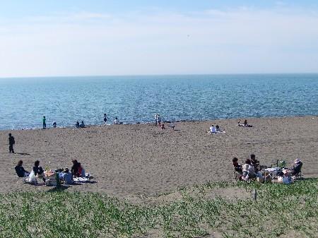 札幌市民が集う石狩浜海水浴場です。