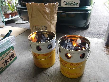 ペール缶コンロ 1号・2号