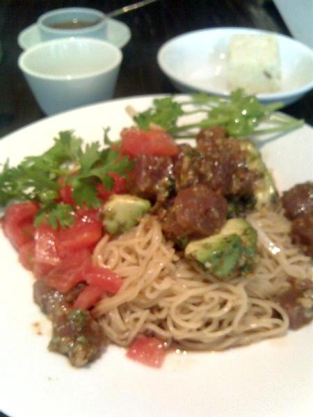 アボカド&マグロ麺