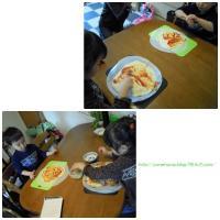 ピザ作り。