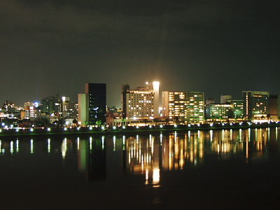 ホテルから見える大淀川