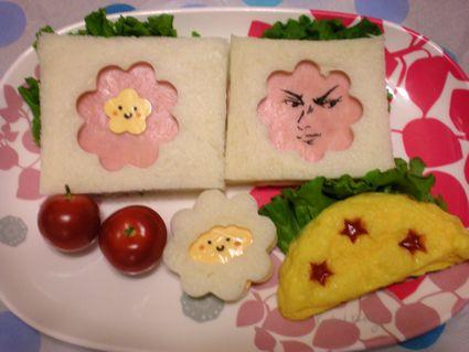 しろっぽい顔サンド