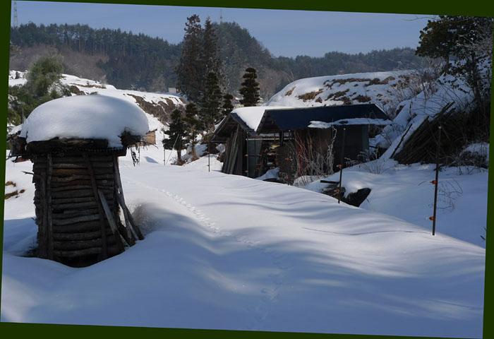 田舎 農家 小屋 冬眠 冬 高山 風景 日之本元極