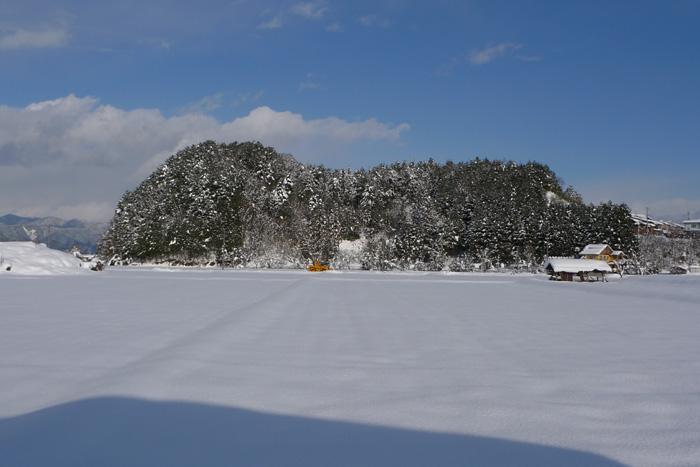 ひだ 高山 雪景色 寒中 晴れ間 日之本元極