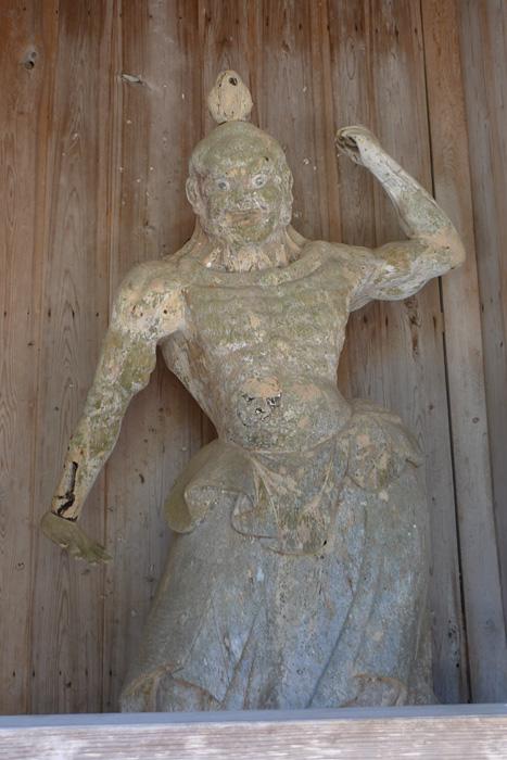 蓮華峰寺 佐渡 小比叡山 金剛力士像 日之本元極