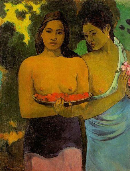 456px-Paul_Gauguin_-_Deux_Tahitiennes.jpg