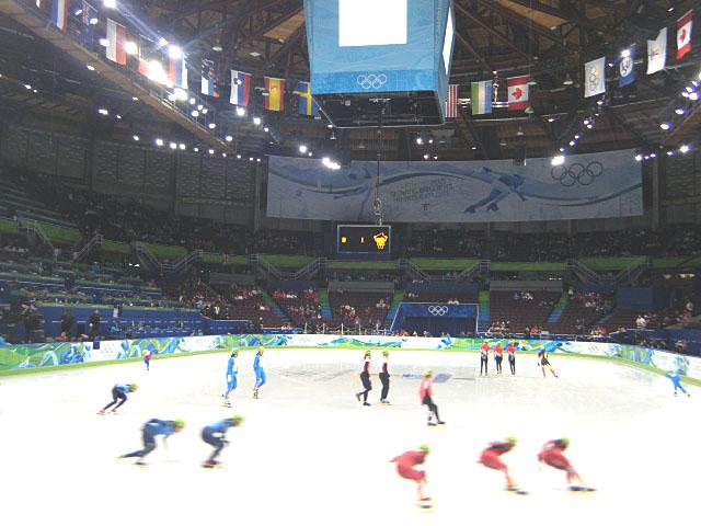 スピードスケート女子練習風景