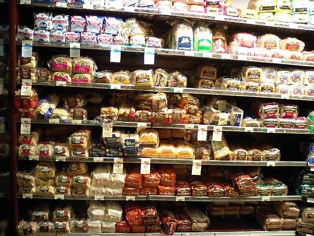 safewayのパン売り場