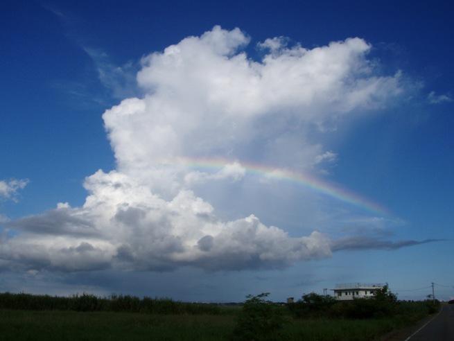 2007宮古島、雲と虹