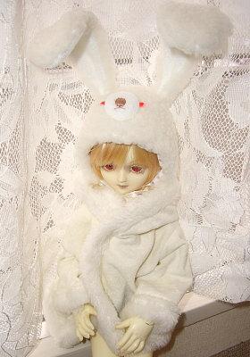雪兎帽子2