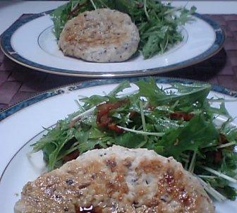 水菜和風サラダ