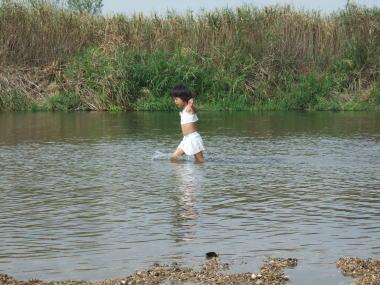 水遊び♪ Chiho