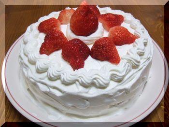 イチゴのケーキ♪ホール