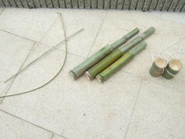 竹の手作りおもちゃ