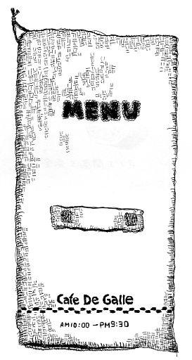 カフェガレのメニュー