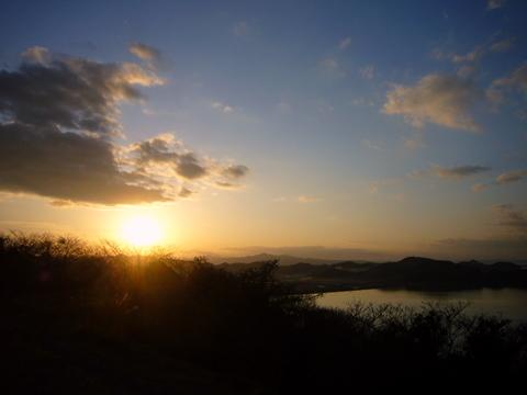 中海の夕日