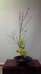 桃・雪柳・菜の花