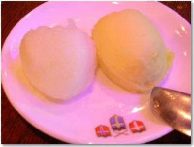 りんごシャーベット&マンゴーアイス