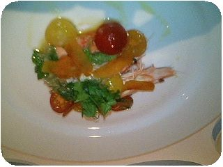 前菜・3色のミニトマト