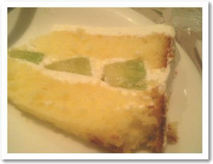 メロンのショートケーキ?