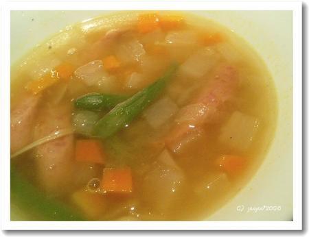 ソーセージのスープ
